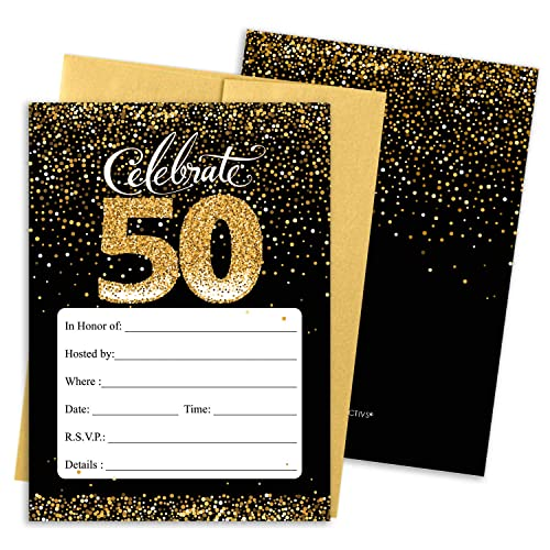 50th Birthday Invitations Amazon Com