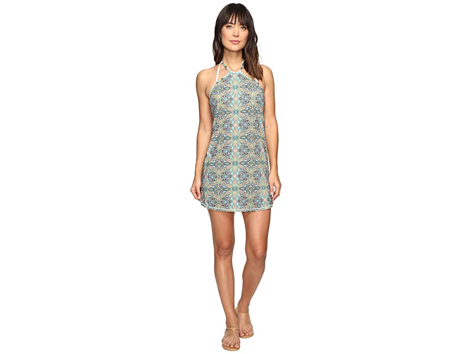 Maaji Pool Tiles Short Dress Cover-Up (Green) Women