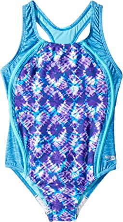 380673077d Speedo kids tie dye sky sport splice one piece swimsuit big kids ...