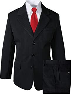 Spring Notion Big Boys' Pinstripe Suit Set Black