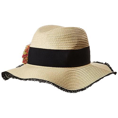 d204e181c95d29 Betsey Johnson Women's Pom Girl Panama Hat