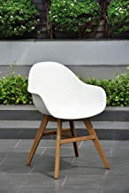 Amazonia Cannes Patio Dining Chair, Brown