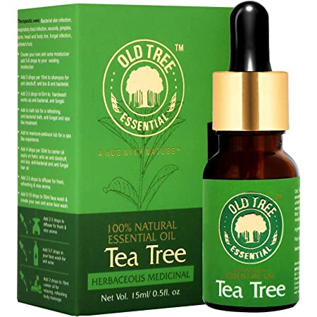 Old Tree Tea Tree Essential Oil for Skin, Hair and Acne Care 15 ml