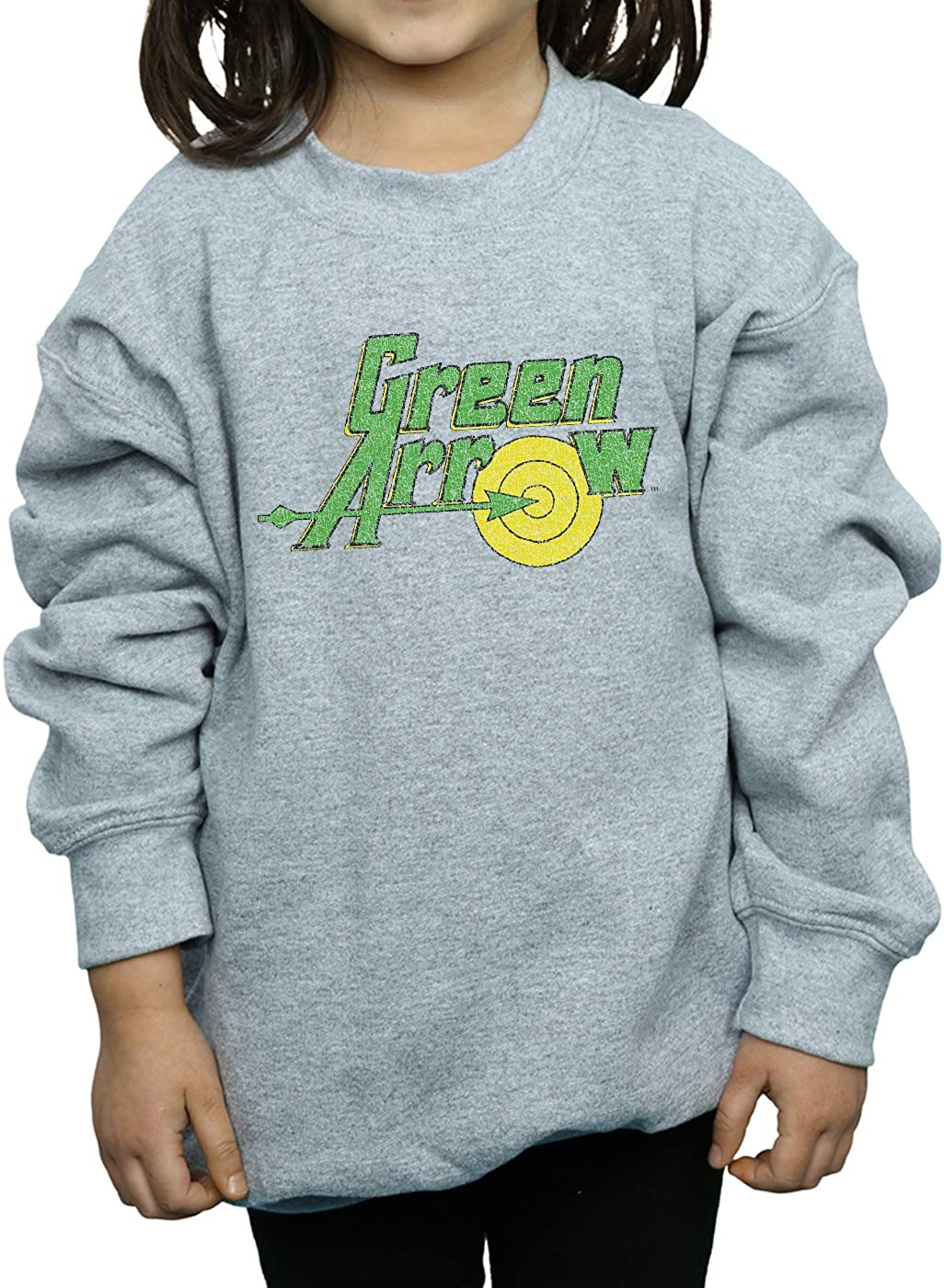 DC Comics Girls Green Arrow Crackle Logo Sweatshirt