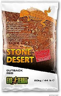 Exo Terra PT3137 Outback Red Stone Desert - Sustrato para terrarios (20 kg), Color Rojo