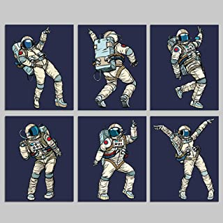 Dancing Astronauts Space Wall Prints – 6 Unframed 8×10 Artwork For..