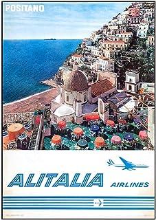 美しいナポリの風景アリタリアHdポスターミラノポスター壁アートキャンバス絵画写真ポスターとリビングルームの家の装飾のためのプリント-50x70cmフレームなし