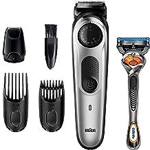 Braun Beard Trimmer BT5265, Hair Clippers for Men, Cordless & Rechargeable, Mini Foil Shaver with Gillette ProGlide Razor,...
