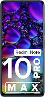 Redmi Note 10 Pro Max (Glacial Blue, 8GB RAM, 128GB Storage) -108MP Quad Camera | 120Hz Super Amoled Display