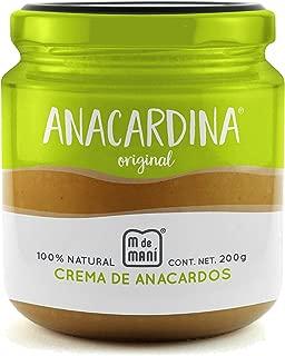 Anacardina Original, marca M de Maní. Crema de nuez de la india 100% natural. All natural cashew butter. 200g