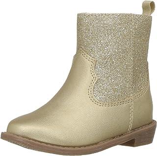 Carter's Girls' Dawn4 Western Boot, Gold, 7 M US Toddler