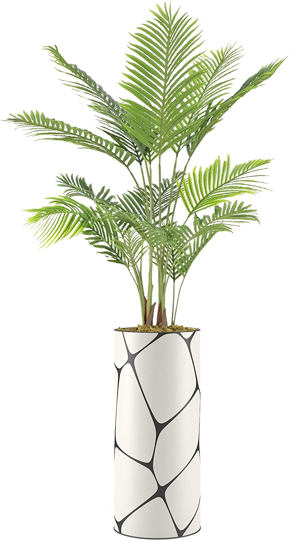 SIGNWIN Areca Palm Tree with Giant Vase White Black shop Ge Polygon Luxury
