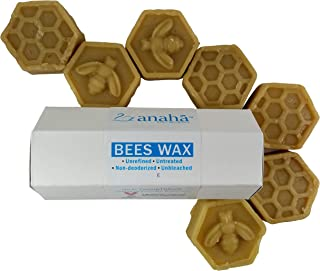 Anaha Pure Unrefined Beeswax, Triple Filtered, 100g