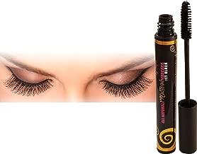 Luxury By Sofia Organic Eyelash Mascara With Sunflower & Chamomile Oils – All Natural & Non Flake Formula – Thicken, Nourish, Lengthen, Strengthen, Moisturize & Volumize (Black)