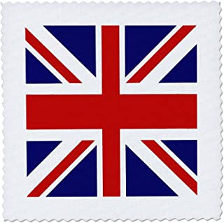 3dRose qs_62560_1 Union Jack Old British Naval Flag Quilt Square, 10 by 10-Inch