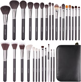 Docolor Makeup Brushes 29Pcs Premium Goat Hair Professional Makeup Brush Kit Foundation Powder Concealers Blending Brushes with PU Leather Case