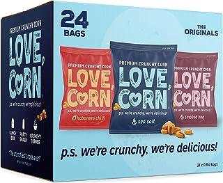 Sponsored Ad - LOVE CORN: Variety Pack | 8x Sea Salt, 8x Habanero Chilli, 8x Barbecue | Roasted Crunchy Corn - Gluten-Free...
