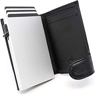 STEALTH Wallet RFID Card Holders - Smart Minimalist NFC Blocking Pop Up Wallets with Gift Box - Credit Cards Holder with C...