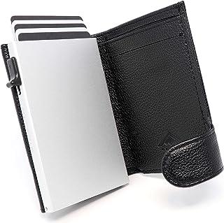 STEALTH WALLET Porta Carte RFID - Portafoglio Pop-up Minimalista - Portafogli Titolare della Carta Credito Leggero (Allumi...