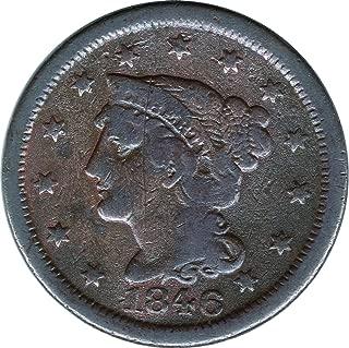 1846 Coronet Head Cents 1C Fine