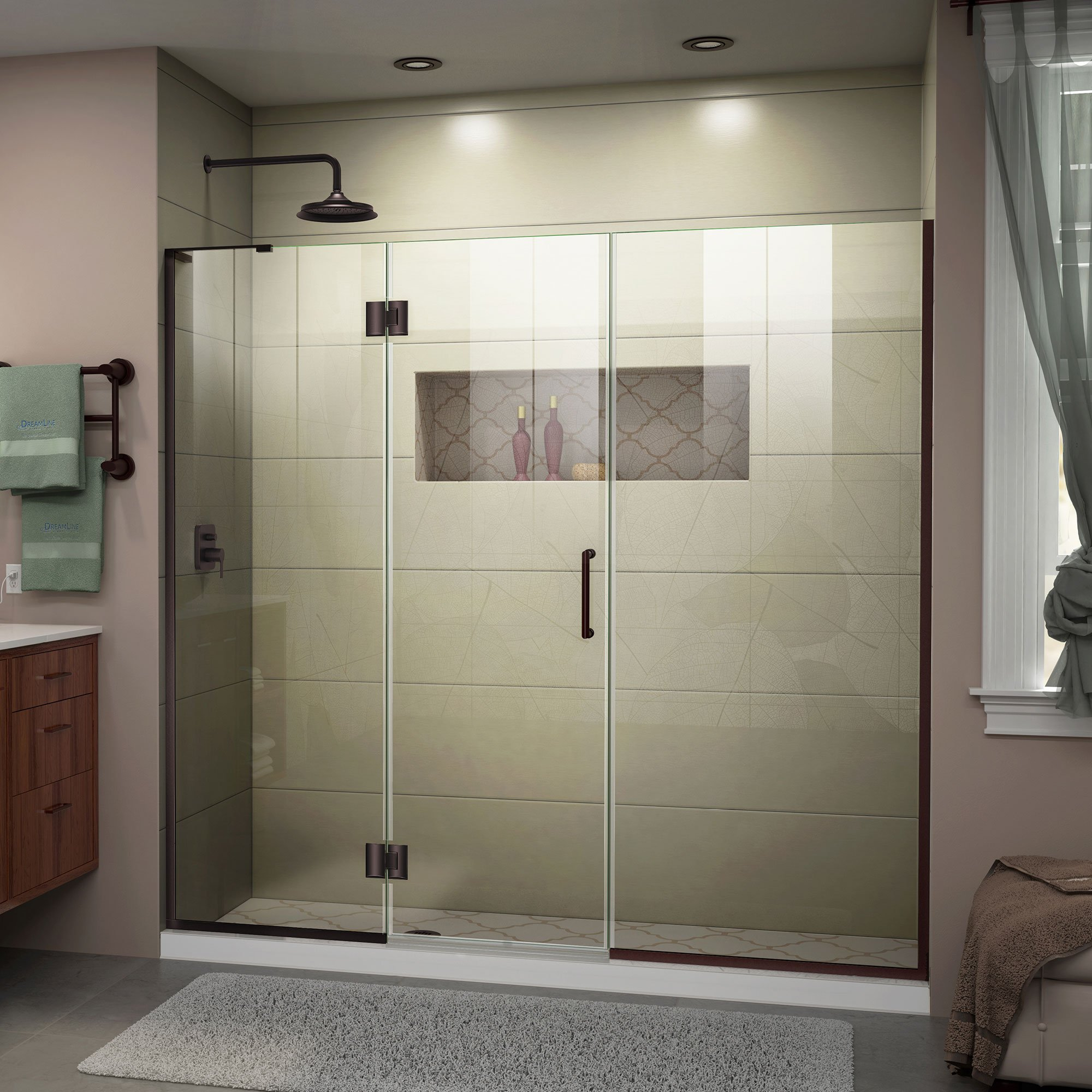 DreamLine unidoor-x con bisagras para mampara de ducha con soporte de left-wall: Amazon.es: Bricolaje y herramientas