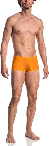 Olaf Benz 0965 Rouge Orange pour Mini Motif Sexy Collant Court sous-vêteHommest Boxer Taille Basse Coffre