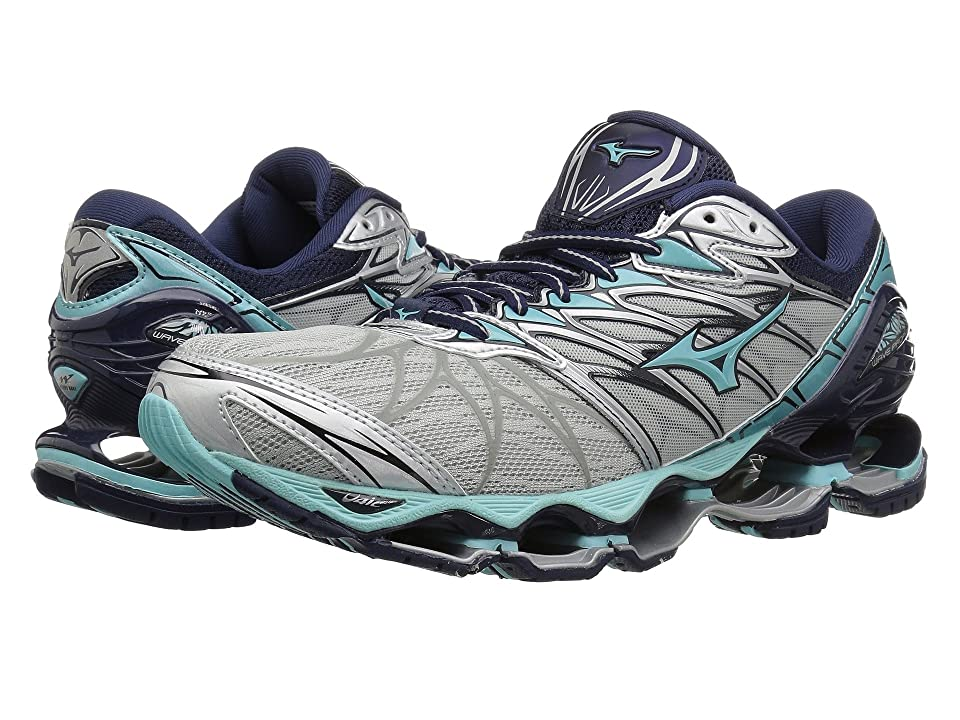 Mizuno Wave Prophecy 7 (Silver/Aqua Splash) Girls Shoes