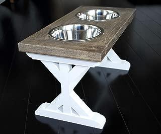 Medium Trestle Style Farmhouse Dog Bowl Stand