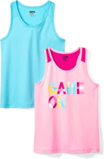 Amazon Brand - Spotted Zebra Girls' Toddler & Kids 2-Pack Active Tank Tops