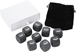 Hockey Puck Whiskey Stones Set - Granite Chilling Stones For Whiskey And Other Liquor - Ideal Gifts For Alcohol Drinkers. Laser Engraved In The Usa.