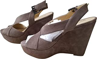 Michael Michael Kors Womens Becky Suede Peep-Toe Wedge Sandals