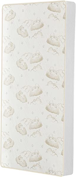 Dream On Me 2 In 1 Breathable Twilight 5 Spring Coil Crib And Toddler Bed Mattress With Reversible Design White Brown