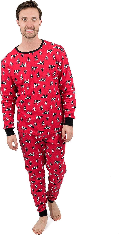 Leveret Mens Pajamas 2 Piece Soldering Branded goods Pajama Set Size Cotton Small- 100%