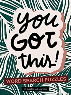 TF PUBLISHING - You Got This Word Search Book - Spiral Puzzle and Activity Pad - Over 100 Puzzles and Solutions - Stimulat...