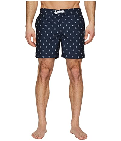 Original Penguin Penguin Fixed Waist Swim (Dark Sapphire) Men