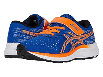 ASICS Kids Pre Excite 7 (Toddler/Little Kid) (Asics Blue/Shocking Orange) Boy
