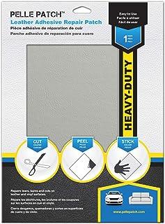 Pelle Patch - Parche Adhesivo de reparación para Cuero y Vinilo - Disponible en 25 Colores - Heavy-Duty 20cm x 28cm - Gris Claro