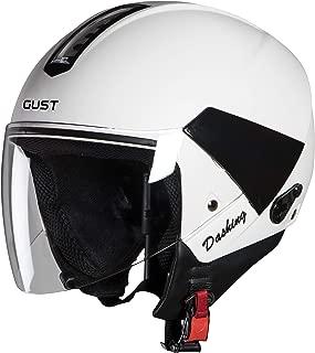 Steelbird SB-33 7Wings Gust Dashing Open Face Helmet (Medium 580 MM, White with Plain Visor)