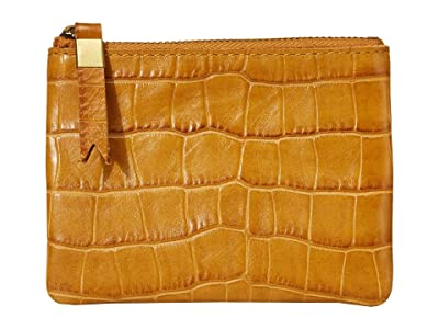 Madewell Leather Pouch Wallet in Croco (Boutique Gold) Handbags