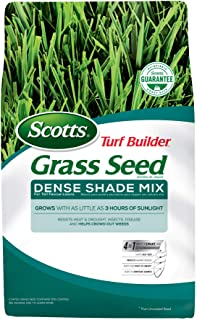 Scotts Turf Builder Grass Seed Dense Shade Mix for Tall Fescue Lawns, 7 lb. - Full Sun and Dense Shade - Grows With as Little as 3 Hours of Sunlight - Resists Heat and Drought, Insects and Disease