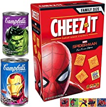 Smash Soup & Hero Crackers Marvel Cheesy Super Crackers Spider-Man Cheez-it Amazing Action stickers & Incredible Hulk Iron Man Campbell's Soup Limited treat fun time!