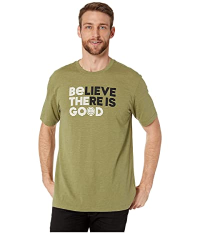 Life is Good LIG Believe There is Good Cool Teetm (Fatigue Green) Men