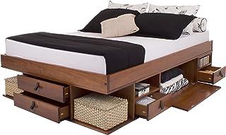 Memomad Lit Multifonction Bali – Lit avec Beaucoup d'Espace de rangements et tiroirs, idéal pour Petites Chambres – Bois M...
