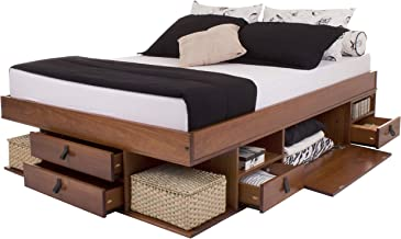 Memomad Functional Bed Bali - Stable Bed with Lots of Storage and Drawers, Ideal for Small bedrooms - Solid Pine Bed - Pri...