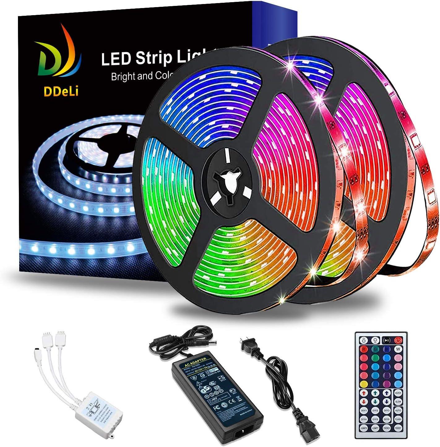 Classic DDeLi LED Strip Lights Waterproof 5050 RGB Super sale period limited Rope 32.8ft Light