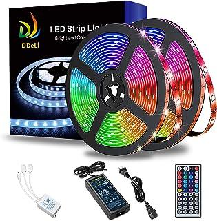 DDeLi LED Strip Lights Waterproof 32.8ft 5050 RGB LED Rope Lights LED Tape Lights Flexible Mutil Color Changing with 44 Ke...