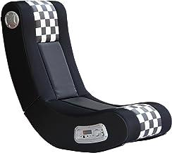 X Rocker Drift Wireless Black and White Checkered Flag 2.1 Wireless Foldable Rocking..