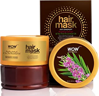 WOW Skin Science Rosebay Extract & Tea Tree Essential Oil Anti-Dandruff Hair Mask, 200mL