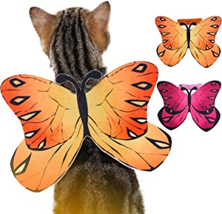 Butterfly Costume for Dogs Cats Funny Halloween Dog Costume, Flying Butterfly Wings Butterfly Dog Costume for Christmas Ha...