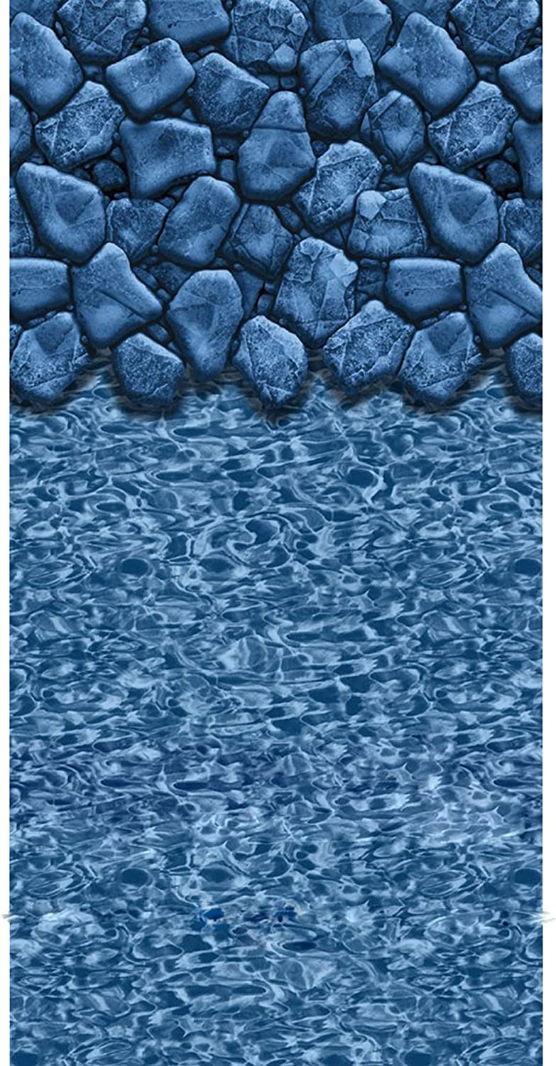 Denver Mall 21-ft. Round Beaded Pool Liner for Raleigh Mall 52-in. Swirl Wall Boulder -